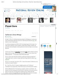 Chuck DeVore: California's Green Mirage - Texas Public Policy ...