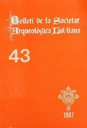 Bolletí de la Societat Arqueològica Lul iana - Biblioteca Digital de ...