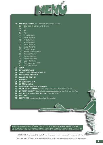 04 NOTÍCIES CERTES, dels diferents sectors de l ... - Escola TECNOS