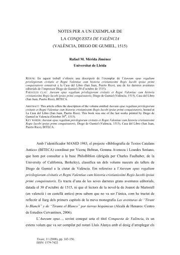 valència, diego de gumiel, 1515 - Parnaseo