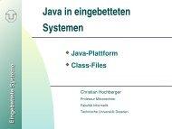 Folien zur Java Plattform - Professur für Mikrorechner - Technische ...
