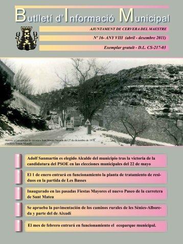 Butlletí d'Informació Municipal - Ayuntamiento de Cervera del Maestre