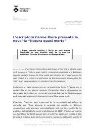 """L'escriptora Carme Riera presenta la novel·la """"Natura quasi morta"""""""