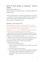 Prática (6) Sistemas Baseados em Conhecimento – Regras de ...