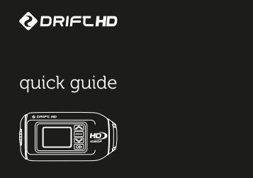 quick guide - Drift Innovation