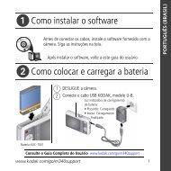 Como instalar o software Como colocar e carregar a bateria - Kodak