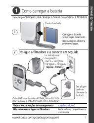 Como carregar a bateria - Kodak