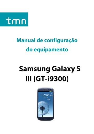Configuração Samsung Galaxy SIII - TMN