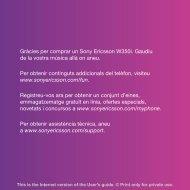 Gràcies per comprar un Sony Ericsson W350i. Gaudiu de la vostra ...
