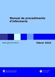 Manual de procediments d'infermeria - Generalitat de Catalunya
