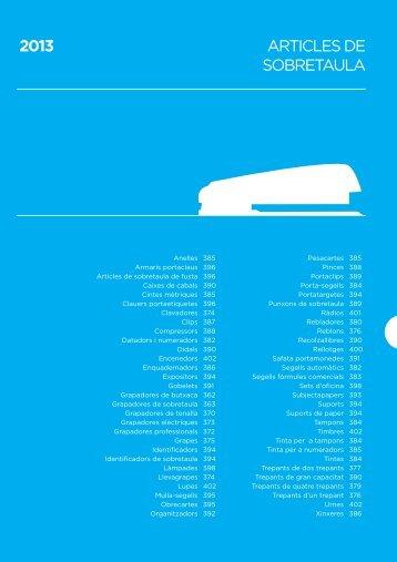 ARTICLES DE SOBRETAULA 2013 - Ipgrup