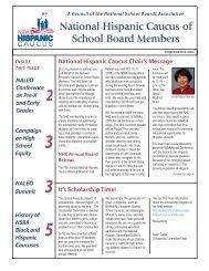 National Hispanic Caucus of School Board Members Educate ...