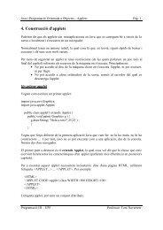 4. Construcció d'applets - DTIC