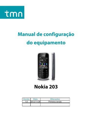 Configuração Nokia Asha 203 - TMN