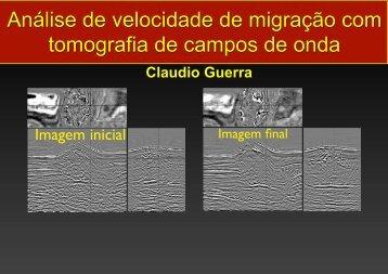 Análise de velocidade de migração com tomografia de campos de onda