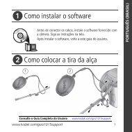 Como instalar o software Como colocar a tira da alça - Kodak