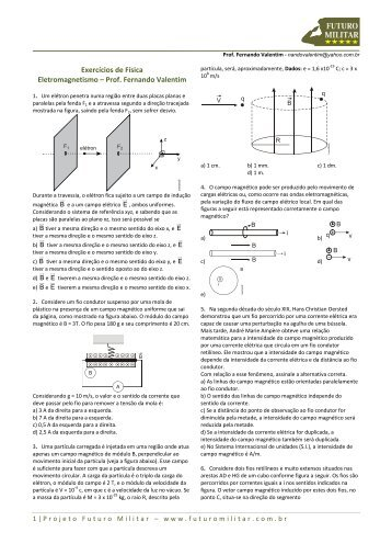 Exercícios de Física Eletromagnetismo – Prof ... - Futuro Militar