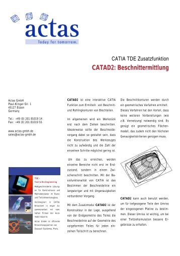CATAD2: Beschnittermittlung - ACTAS GmbH