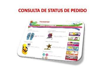 manual consulta status de pedidos - Havaianas - Alpargatas