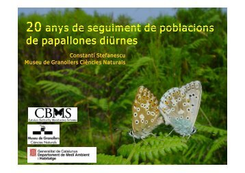 20 anys de seguiment de poblacions de papallones diürnes - CREAF