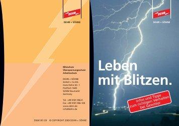 Broschüre Leben mit blitzen - Dehn + Söhne Blitzschutzsysteme