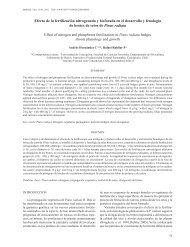 Efecto de la fertilización nitrogenada y fosforada en el desarrollo y ...