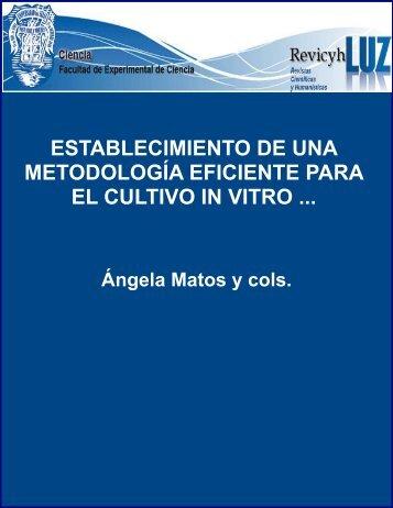 Establecimiento de una metodología eficiente para el cultivo in vitro ...
