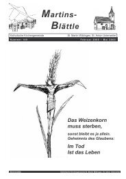 Martinsblättle 149, Februar - Mai 2005 - Seelsorgeeinheit Ulm-Basilika