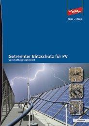Getrennter Blitzschutz für PV - Dehn + Söhne Blitzschutzsysteme