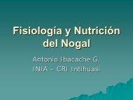 Fisiología y Nutrición del Nogal - Chilenut