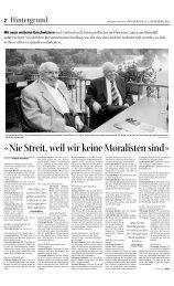 «nie streit, weil wir keine moralisten sind» - Christoph Blocher