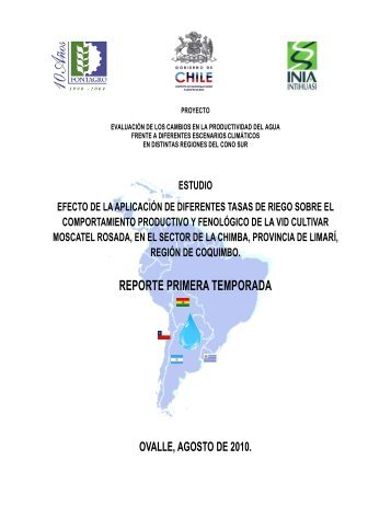 Reporte Resultados Ensayo La Chimba- Primera Temporada