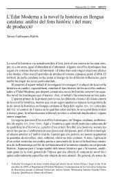 L'Edat Moderna a la novel·la històrica en llengua catalana ... - RACO