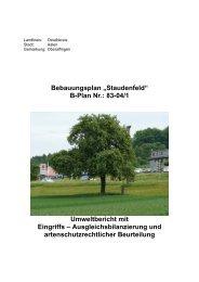 Umweltbericht - Stadt Aalen