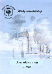 Verksamhetsberättelse 2002 - IdrottOnline Klubb