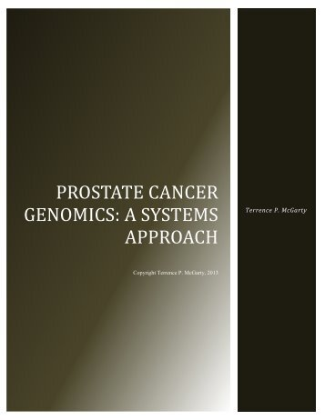 Prostate Cancer Genomics: A Systems Approach - Telmarc Group