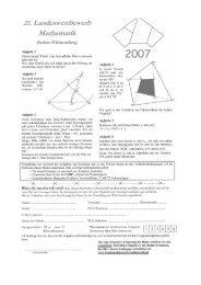21. Landeswettbewerb Mathematik