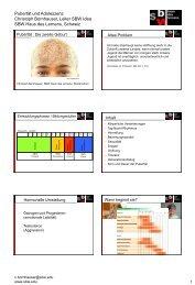 - Biologische Veränderungen - Auswirkungen - Biologischer Sinn ...
