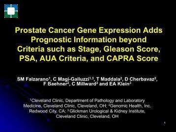 Prostate Cancer Gene Expression Adds Prognostic Information ...