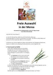 Freie Auswahl in der Mensa - Kepler-Gymnasium Tübingen