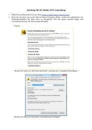 Anleitung für die Online-GFS-Anmeldung