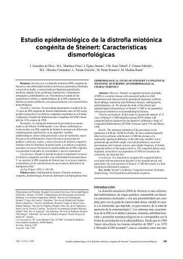 Estudio epidemiológico de la distrofia miotónica congénita de Steinert
