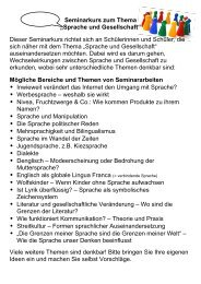 """Seminarkurs zum Thema """"Sprache und Gesellschaft"""" Dieser ..."""