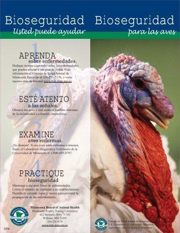 biosecurity for the birds SPA - Minnesota.gov