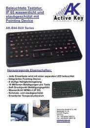 Beleuchtete Tastatur, IP 65 wasserdicht und ... - Active Key