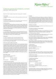 Condiciones generales de contratación y suministro - Kräuter Kühne