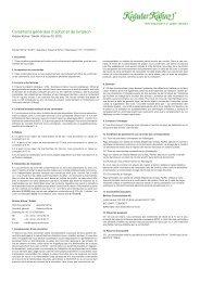 Conditions générales d'achat et de livraison - Kräuter Kühne