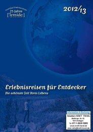 (2012/13). Erlebnisreisen für Entdecker - Kraft-Travel