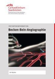Becken-Bein-Angiographie - Caritasklinik St. Theresia