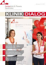 Klinik-Dialog Ausgabe 2/2011 - Caritasklinik St. Theresia